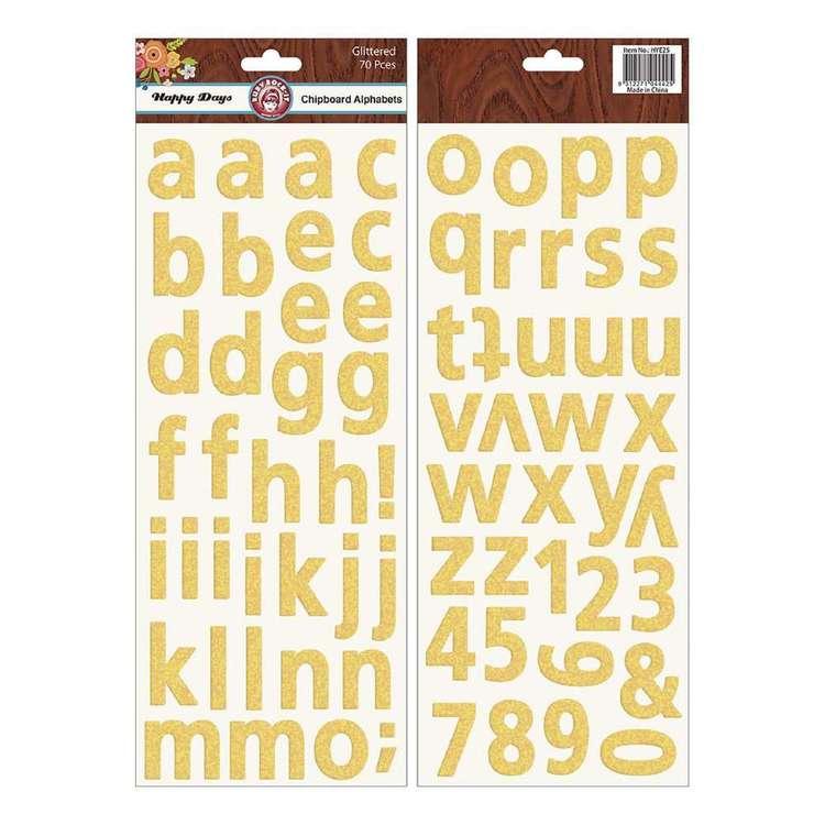 Ruby Rock-It Happy Days Chipboard Alphabet Stickers