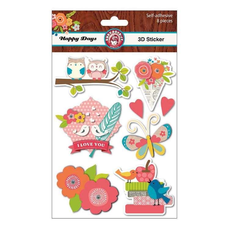 Ruby Rock-It Happy Days 3D Stickers