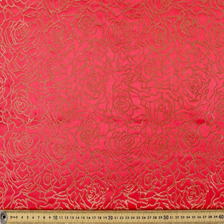 Rose Printed 145 cm Summer Brocade Fabric