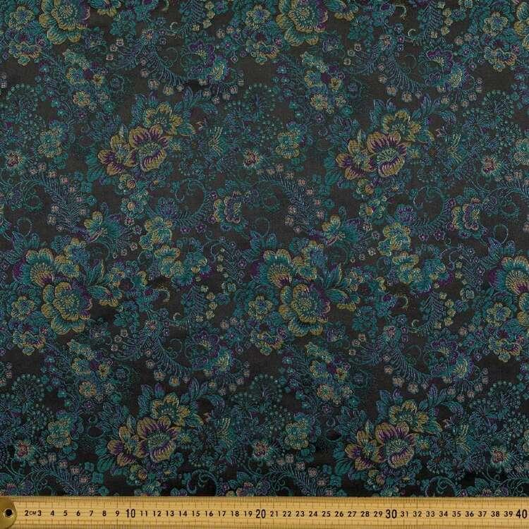 Ditsy Floral Printed 90 cm Oriental Brocade Fabric