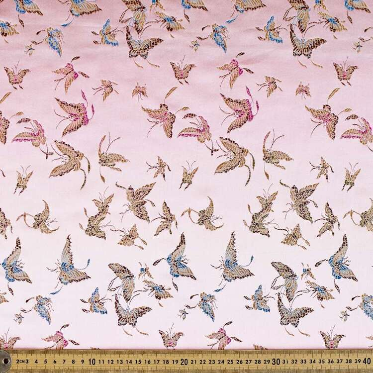 Butterfly Printed 145 cm Summer Brocade Fabric