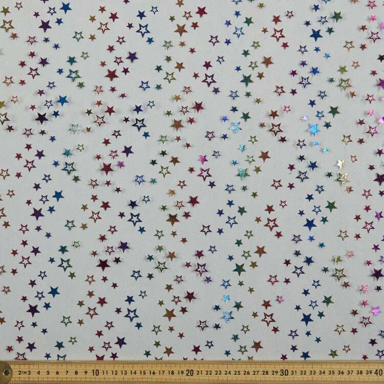 Party Play Star Printed 150 cm Tulle Fabric