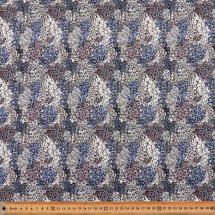 Rolling Cluster Printed 112 cm Cotton Poplin Fabric