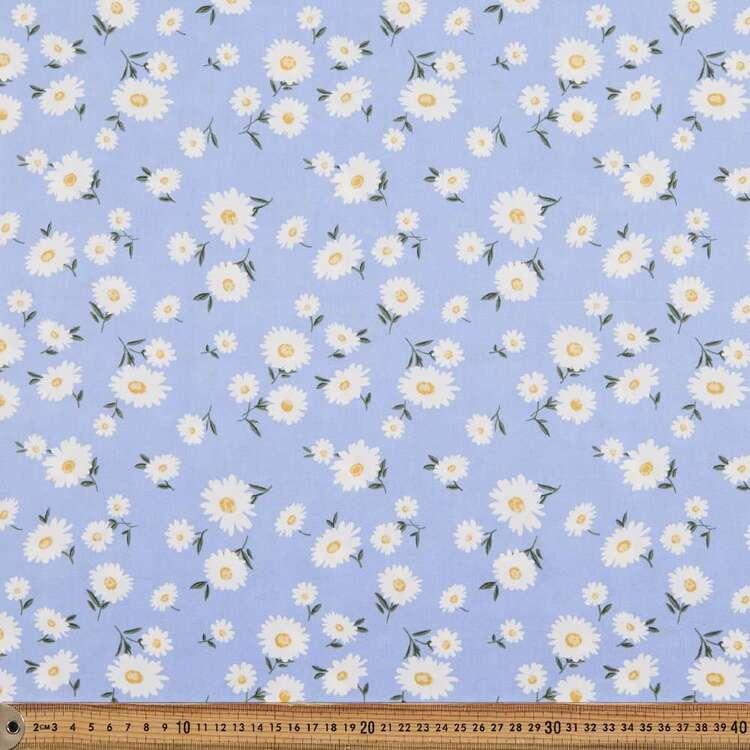 Daisy Blues Printed 112 cm Cotton Poplin Fabric
