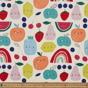 Fruity Face Printed 112 cm Buzoku Cotton Duck Fabric