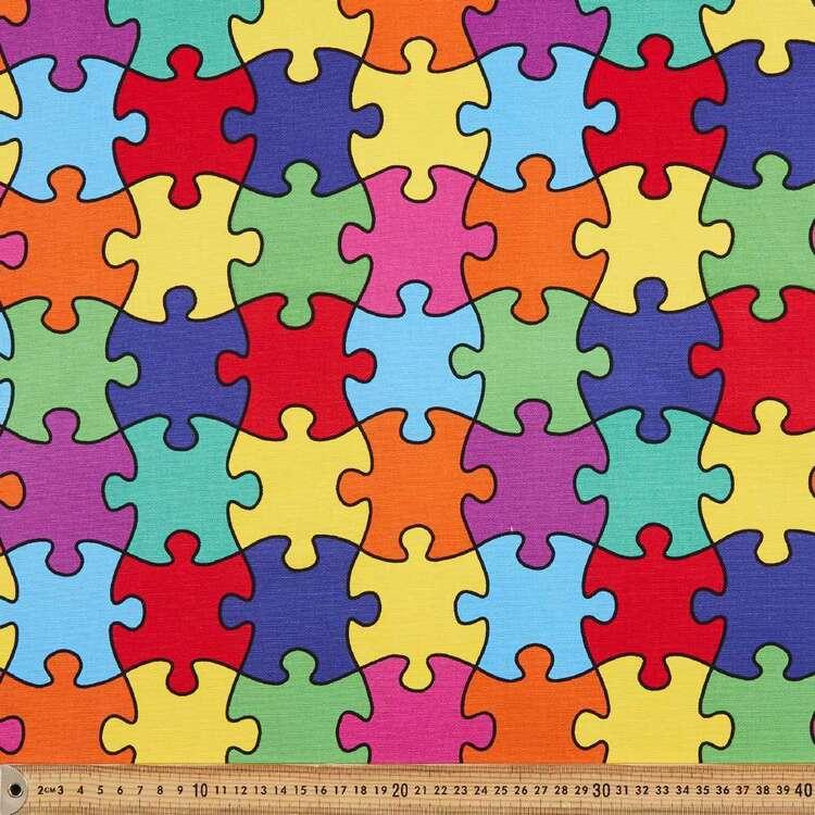 Jigsaw Printed 112 cm Buzoku Cotton Duck Fabric