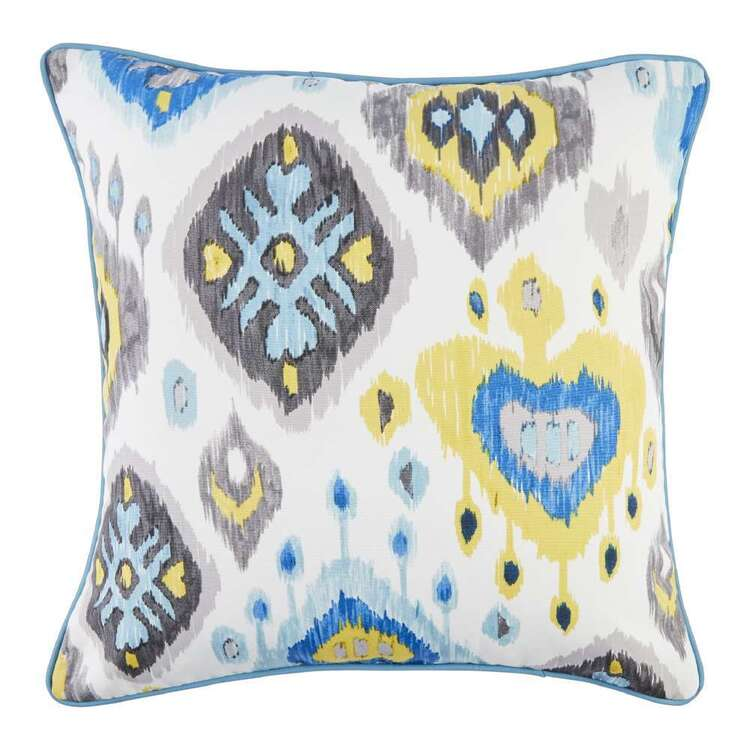 Koo Inside Out Ikat Outdoor Cushion Cover Aqua 45 x 45 cm