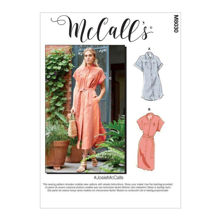 McCall's Pattern M8030 #JosieMcCalls - Misses' Dresses & Belt