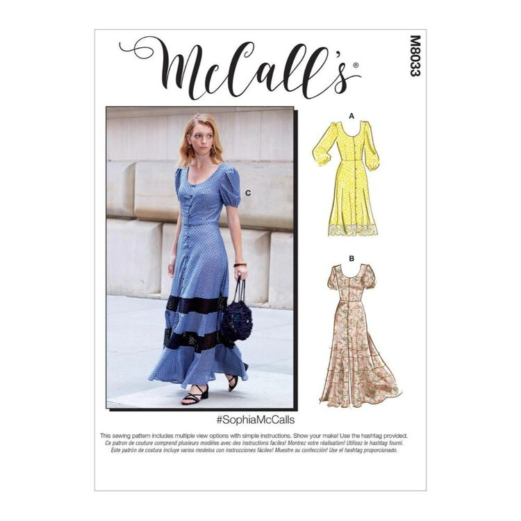 McCall's Pattern M8033 #SophiaMcCalls - Misses' Dresses