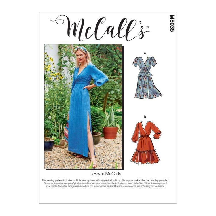 McCall's Pattern M8035 #BrynnMcCalls - Misses' Dresses