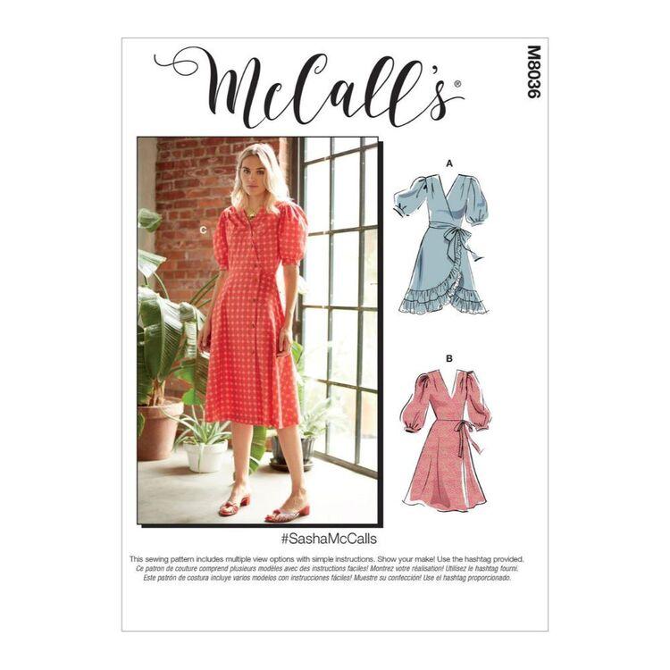 McCall's Pattern M8036 #SashaMcCalls - Misses' Dresses & Sash