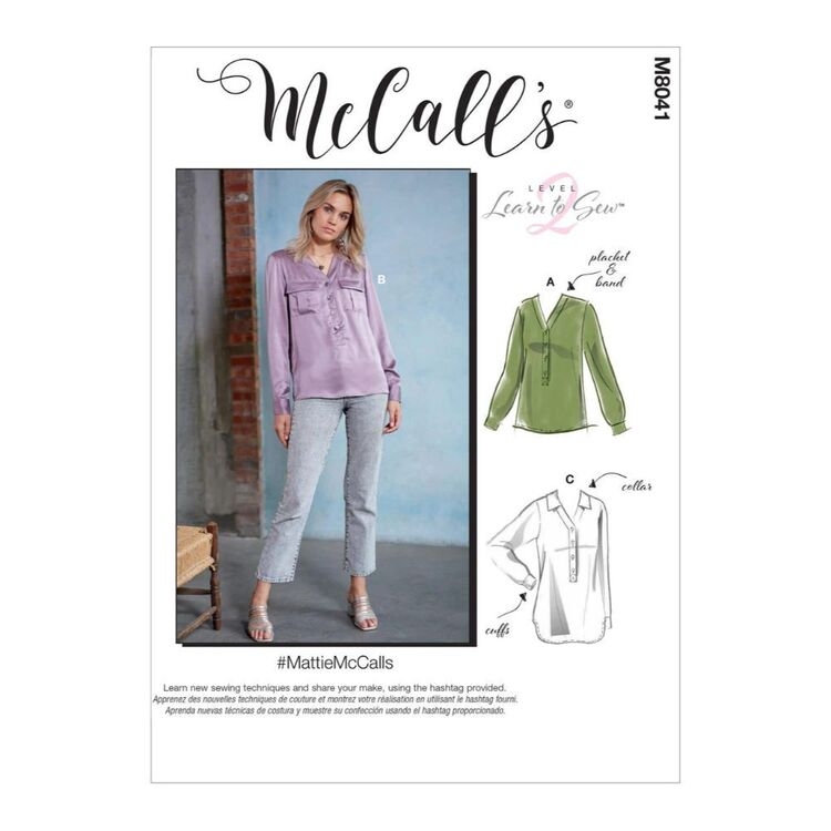 McCall's Pattern M8041 #MattieMcCalls - Misses' Shirts