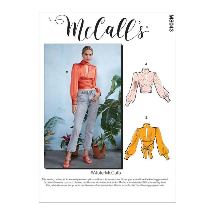 McCall's Pattern M8043 #AlisterMcCalls - Misses' Tops