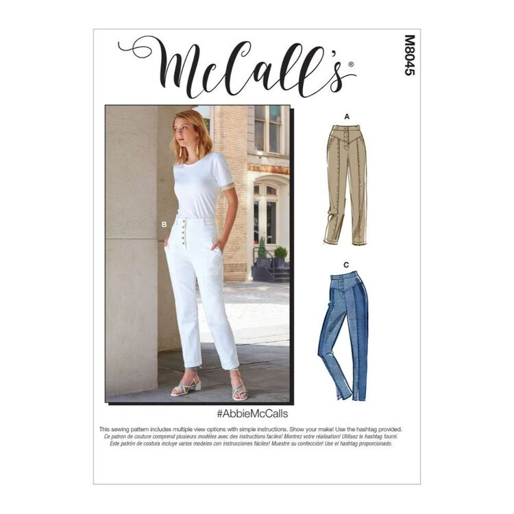 McCall's Pattern M8045 #AbbieMcCalls - Misses' Pants