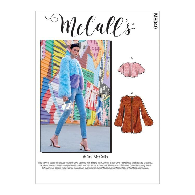 McCall's Pattern M8049 #GinaMcCalls - Misses' Jackets