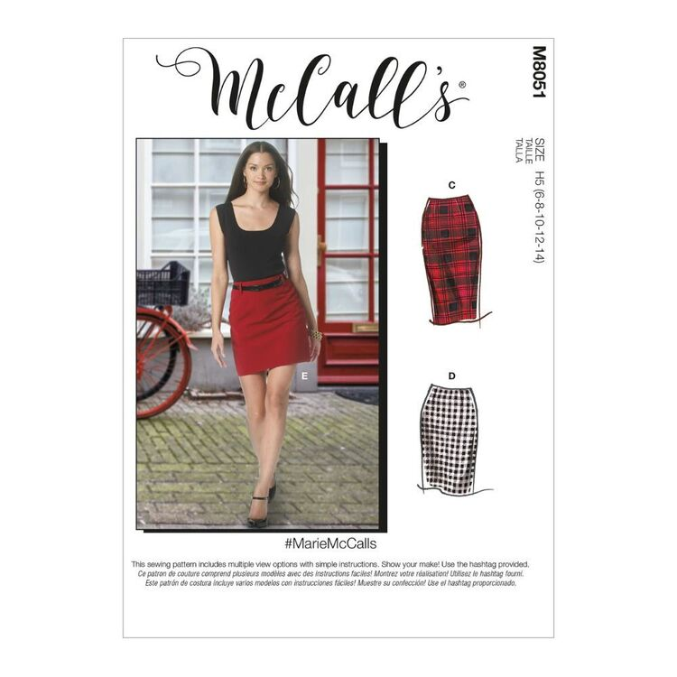McCall's Pattern M8051 #MarieMcCalls - Misses' Pencil Skirts In Five Lengths