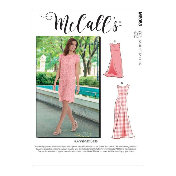 McCall's Pattern M8053 #AnneMcCalls - Misses' Tent Dress In 2 Lengths