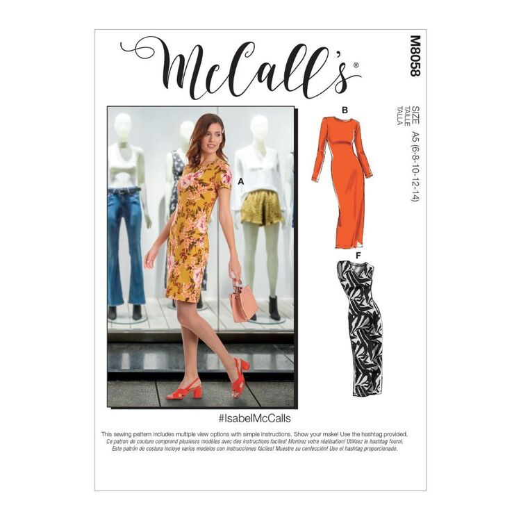 McCall's Pattern M8058 #IsabelMcCalls - Misses' Knit Pullover Dresses