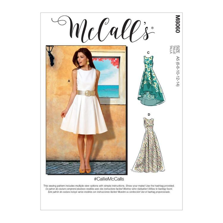 McCall's Pattern M8060 #CallieMcCalls - Misses' Pleated-Skirt Dresses