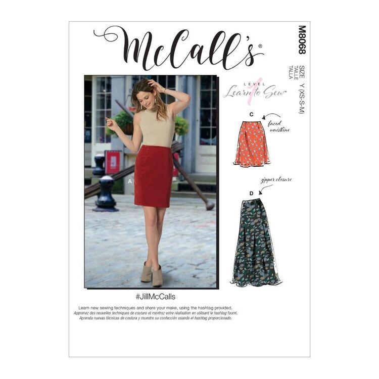 McCall's Pattern M8068 #JillMcCalls - Misses' Skirts in Three Lengths