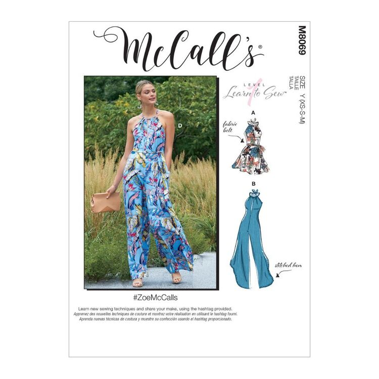 McCall's Pattern M8069 #ZoeMcCalls - Misses' Romper, Jumpsuits and Belt