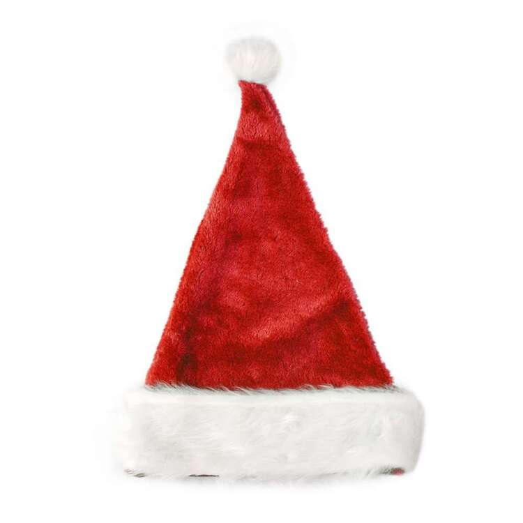 Jolly & Joy Plush Santa Hat