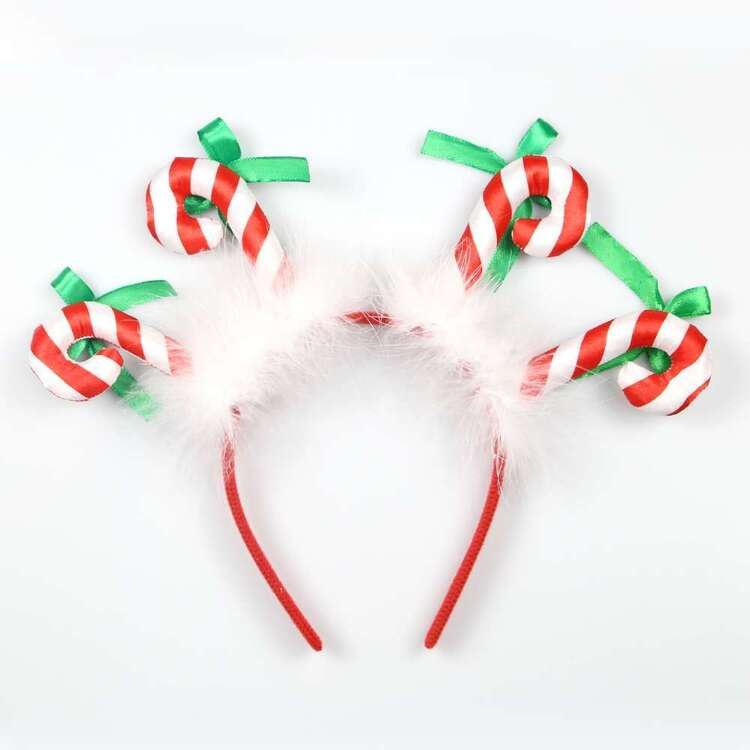 Jolly & Joy Candy Cane Headband
