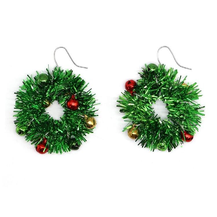 Jolly & Joy Bauble Wreath Christmas Earrings