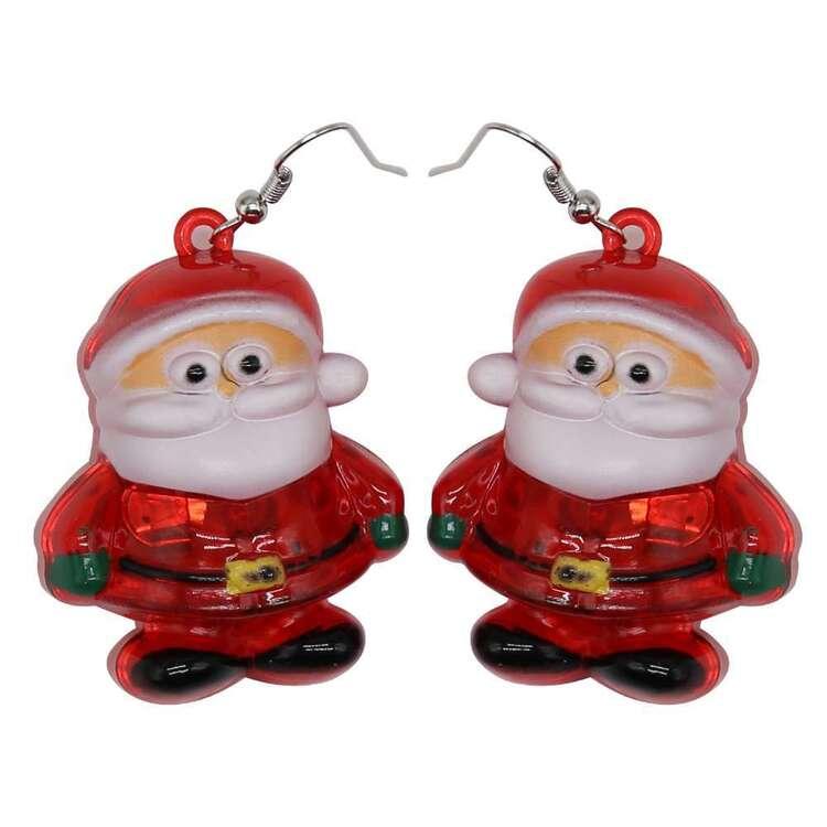 Jolly & Joy Santa Christmas Light Earrings