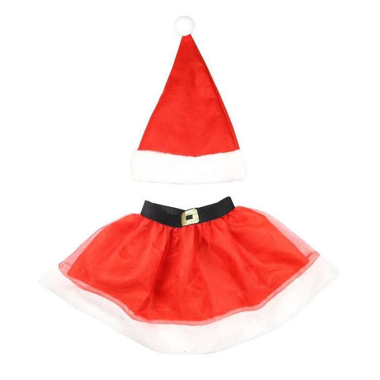 Jolly & Joy Santa Kids Tutu Set Red 4 - 6 Years