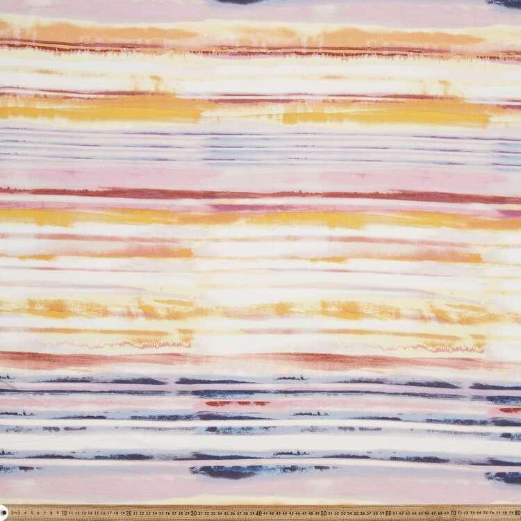 Watercolour Stripe Printed 148 cm Rayon Spandex Knit Fabric