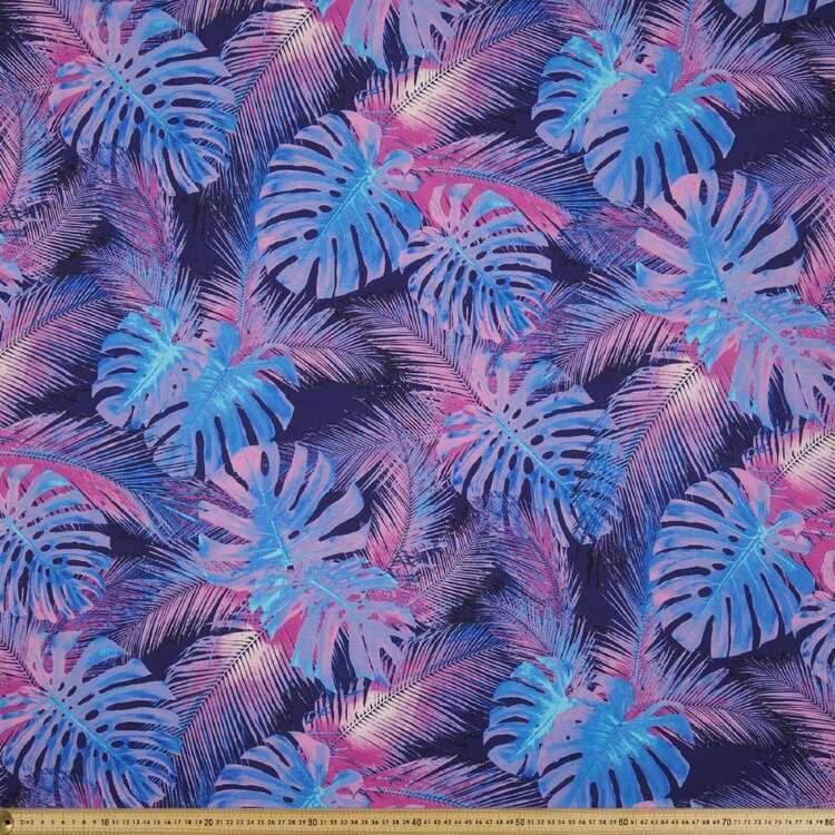 Bright Leaves Printed 148 cm Rayon Spandex Knit Fabric