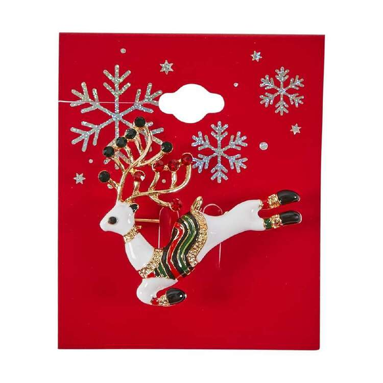 Reindeer Christmas Brooch