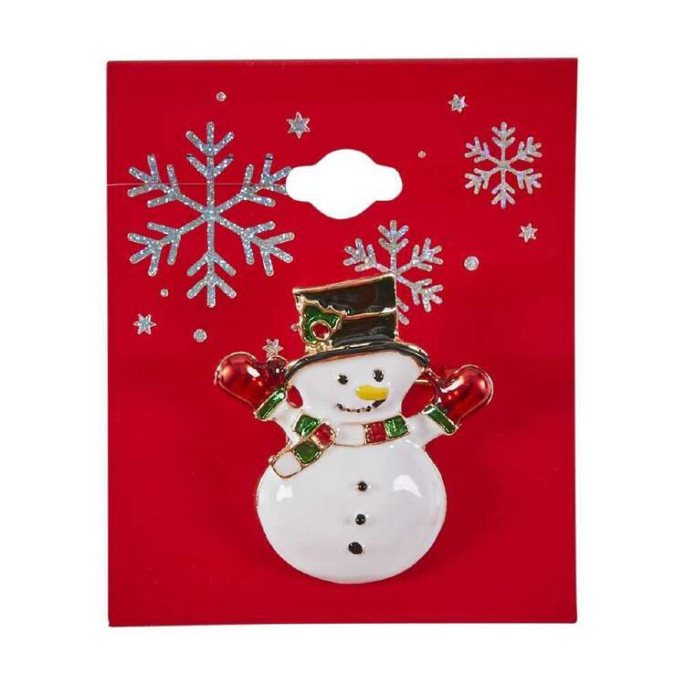 Snowman Christmas Brooch