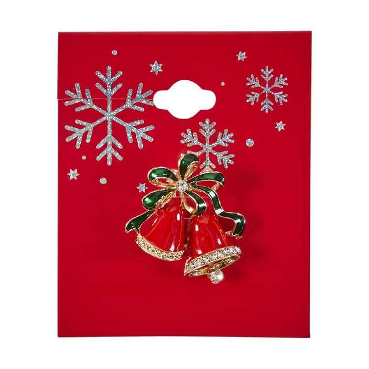 Bells Christmas Brooch