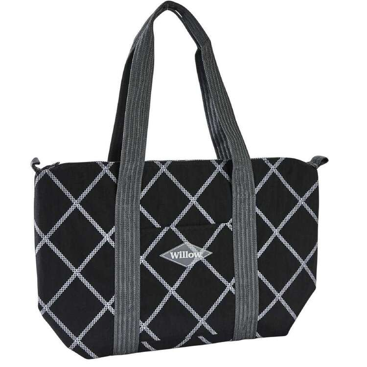 Willow City Cooler Tote Bag Black & White