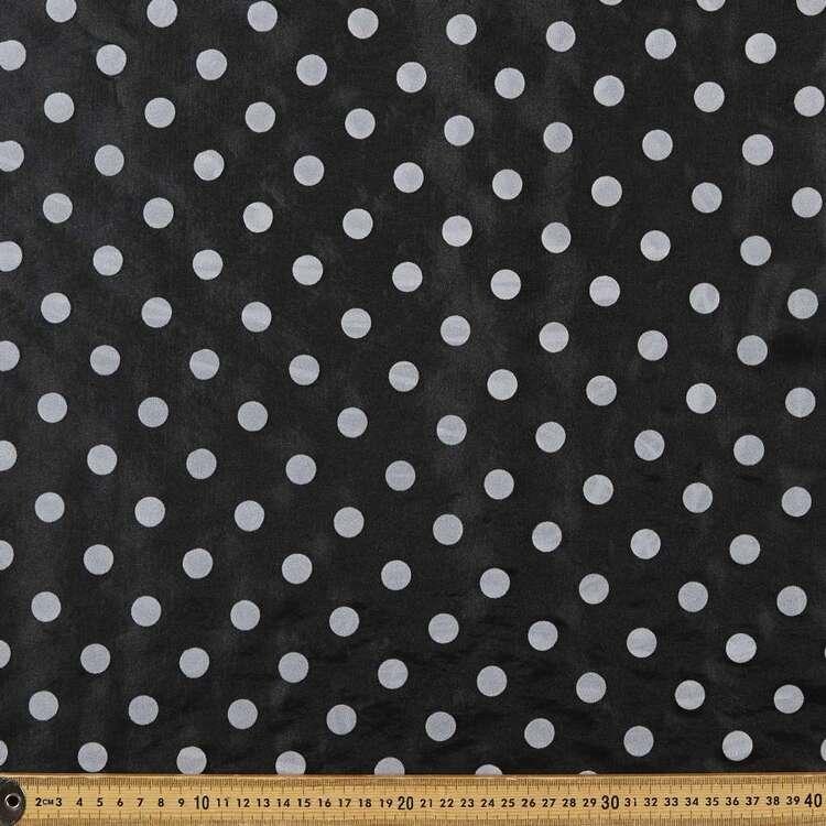 Flocked Spot Printed 145 cm Organza Fabric