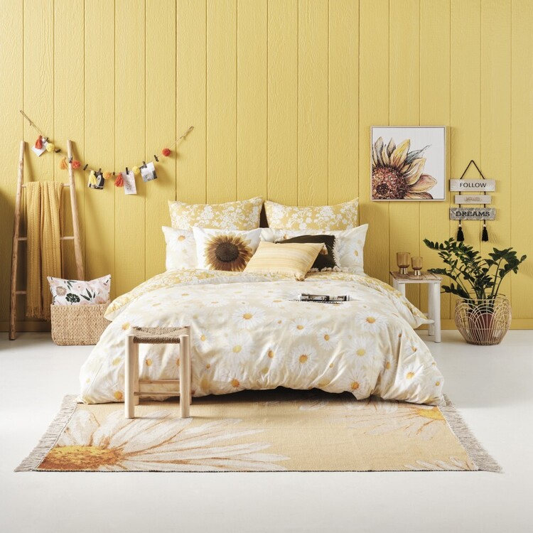 Ombre Home Spring Fields Sunflower Quilt Cover Set