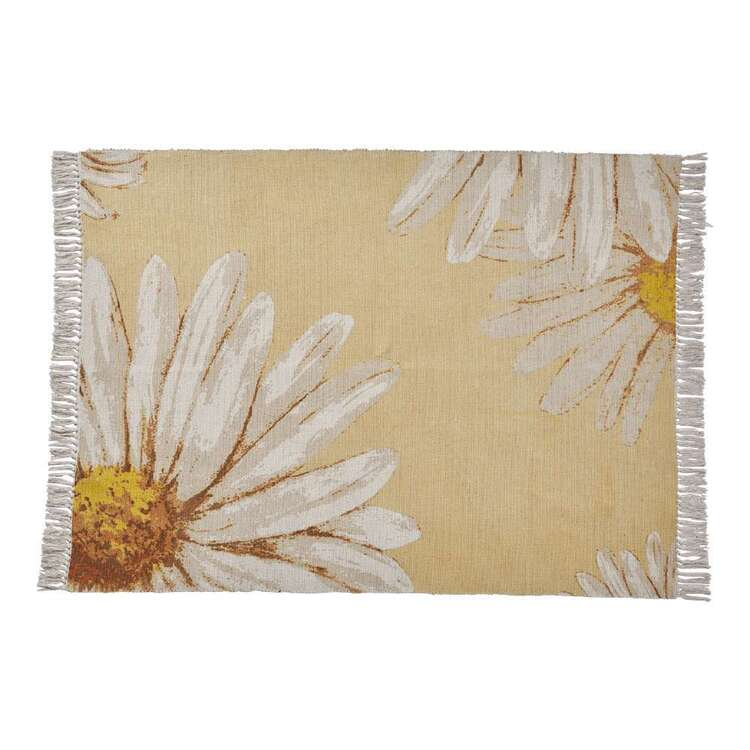 Ombre Home Spring Fields Sunflower Cotton Rug