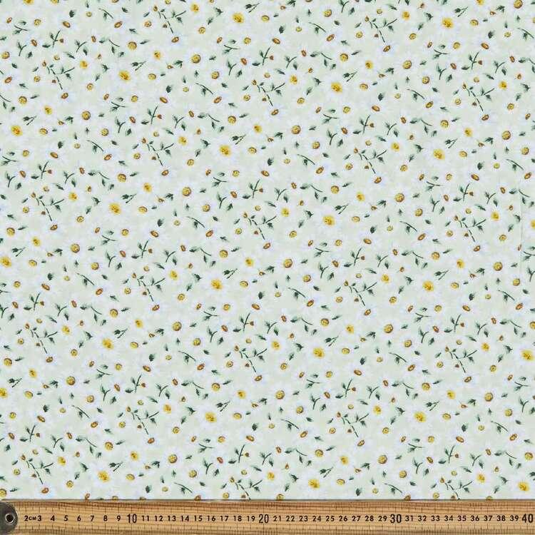 Hazy Daisy Printed 135 cm Rayon Fabric