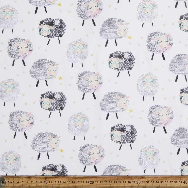 Sheepish Printed 138 cm Muslin Fabric