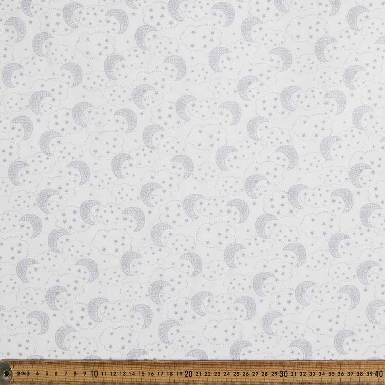Moons & Clouds Printed 138 cm Muslin Fabric
