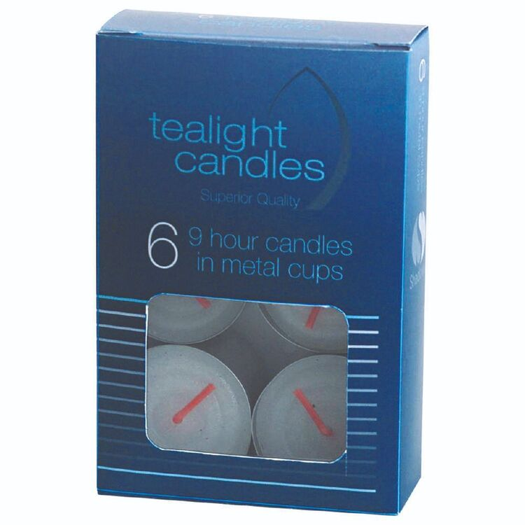 Shadows Premium 6 Pack Tea Light Candle