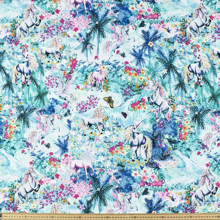Magic Garden Printed 112 cm Cotton Poplin Fabric