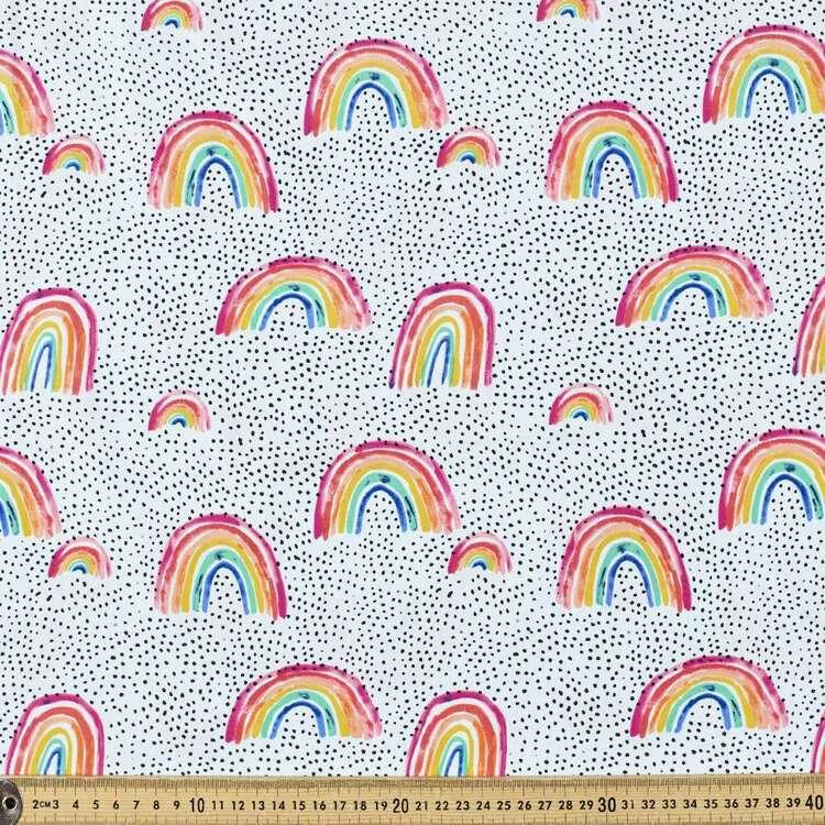 Dotty The Rainbow Printed 112 cm Cotton Poplin Fabric