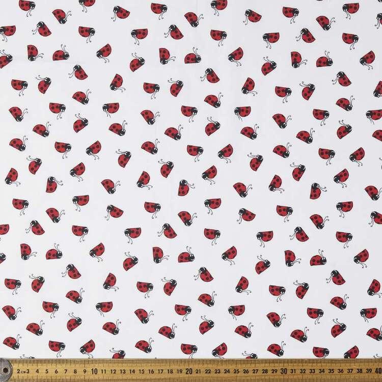 Lady Bug Dance Printed 112 cm Cotton Poplin Fabric