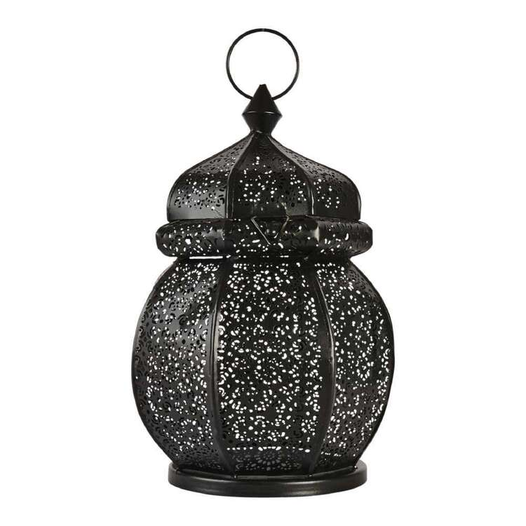 Living Space 18 x 27 cm Metal Lantern Candle Holder