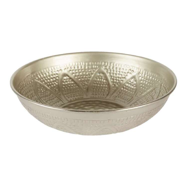Living Space Textured Metal Bowl