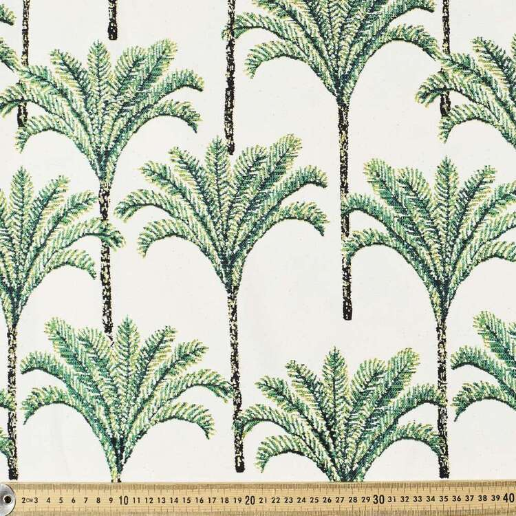 Classic Palm Printed 112 cm Buzoku Cotton Duck Fabric