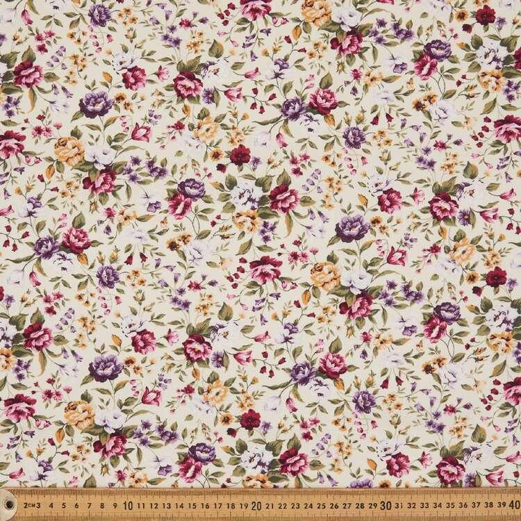 Rose & Hubble Floral Garden Cotton Fabric